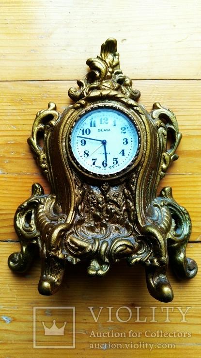 Чугунные механические настольные часы