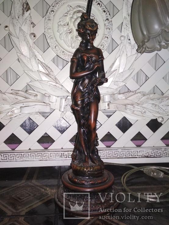 Лампа настольная светильник Девушка металл, фото №3