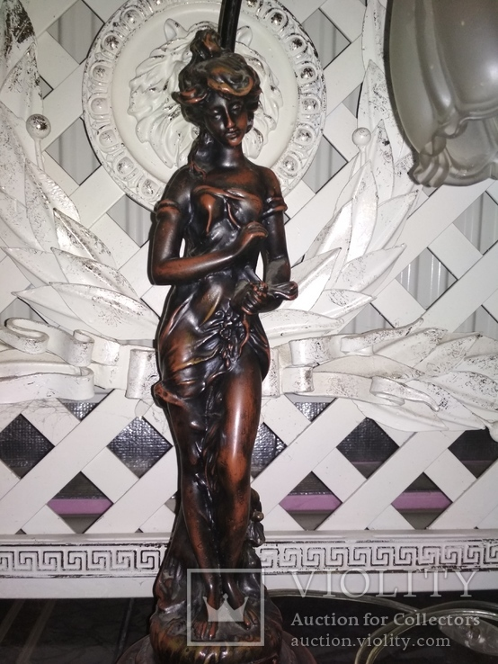 Лампа настольная светильник Девушка металл, фото №2