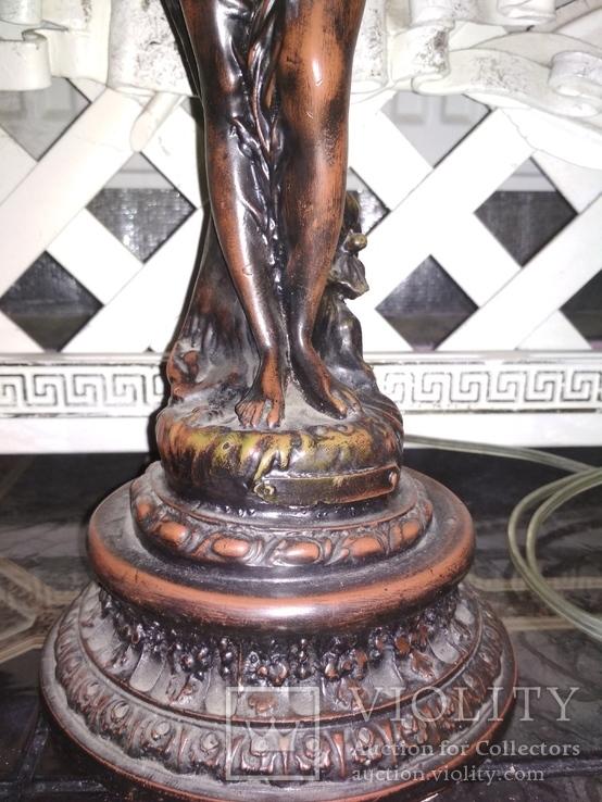 Лампа настольная светильник Девушка металл, фото №5