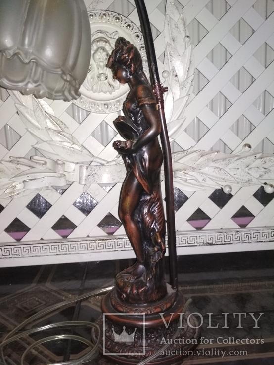 Лампа настольная светильник Девушка металл, фото №8