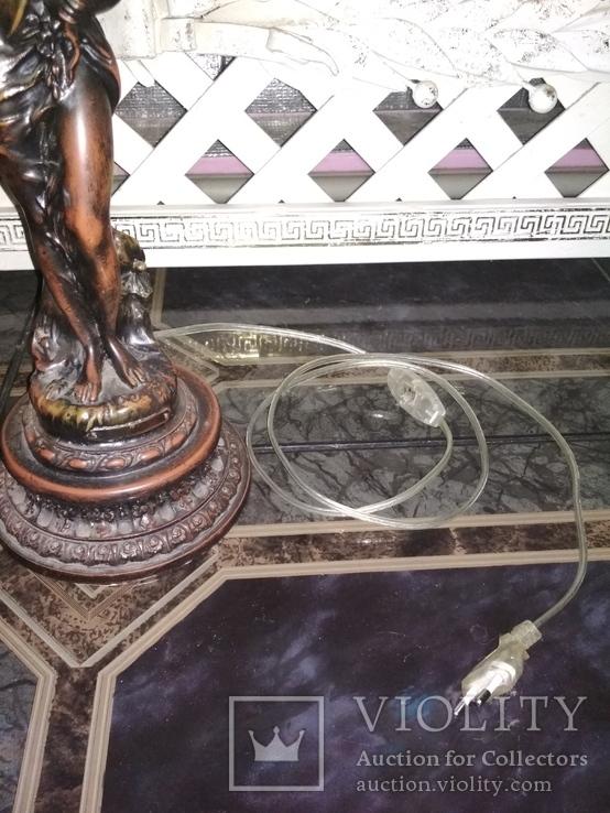 Лампа настольная светильник Девушка металл, фото №11