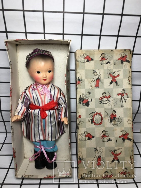 Кукла мальчик-азиат, в коробке,