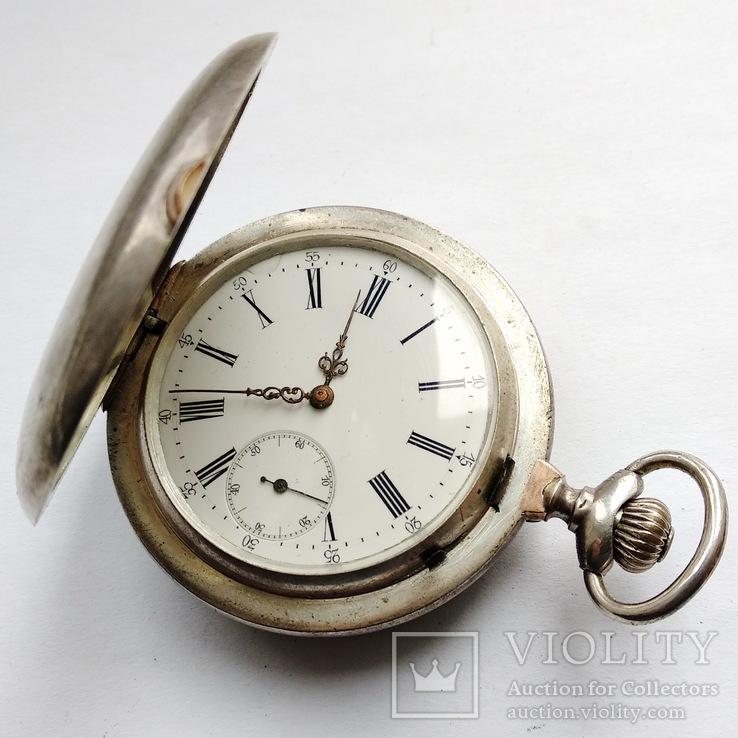 Gustave Jacot Locle Часы Серебряные 84