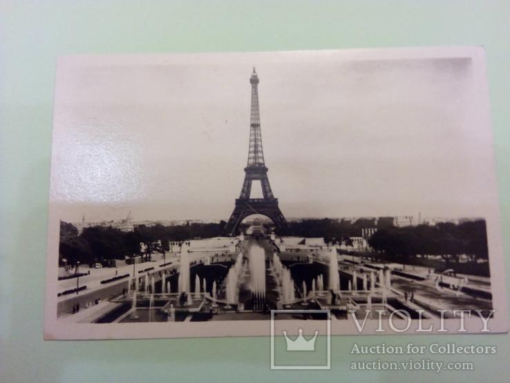 Открытка с видом на фонтан Трокадеро (Франция), фото №2