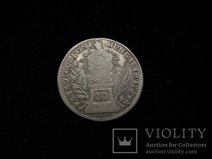 10 крейцерів 1764 КВ,  Австро-Угорщина, Угорський тип, фото №3