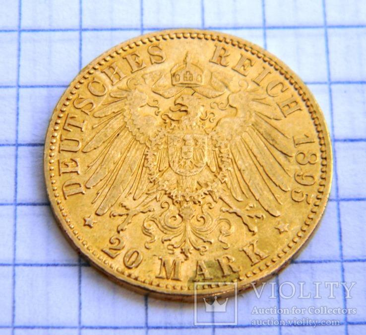20 марок 1895 Гамбург Германия