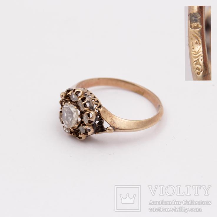 №2819 Кольцо 56° с алмазами