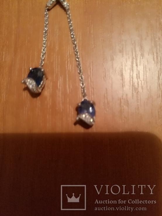 Ожерелье с натуральными сапфирами, фото №6