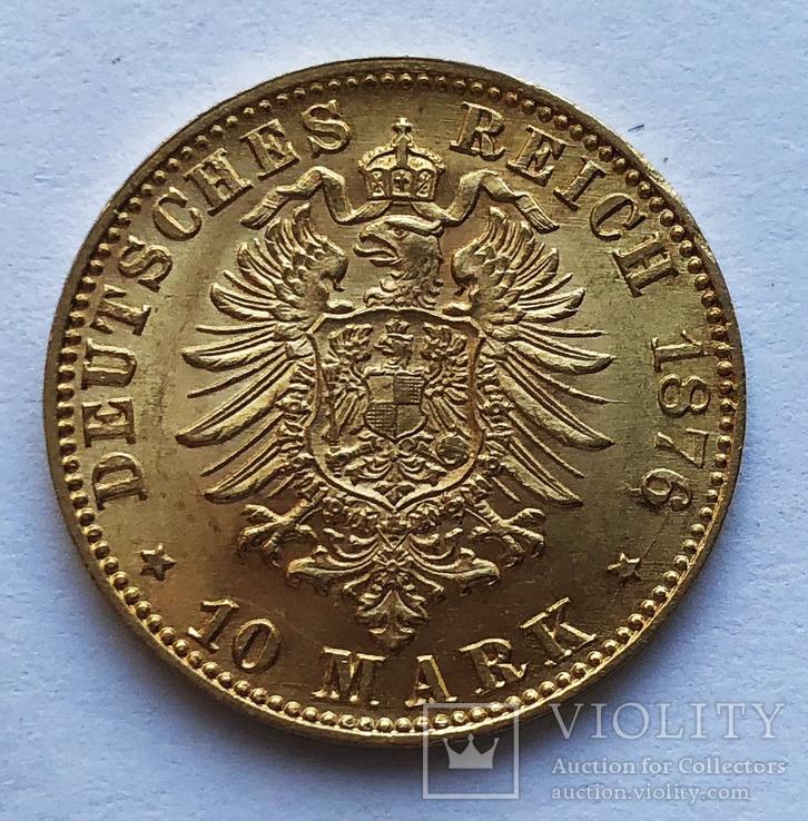 10 марок 1876 года. Баден. UNC.