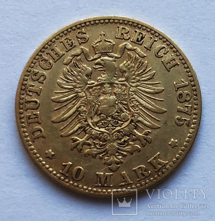 10 марок 1875 года. Саксония.
