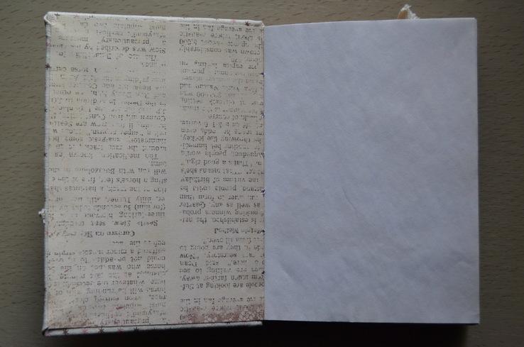 Блокнот ручной работы с нелинованными состаренными страницами -Осенний уют- 115 листов, фото №8