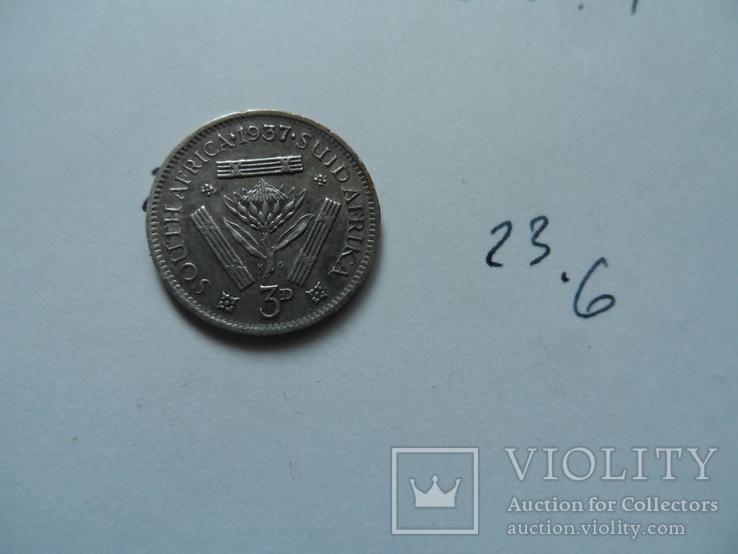 3 пенса 1937 Африка    (Н.23.6)~, фото №6