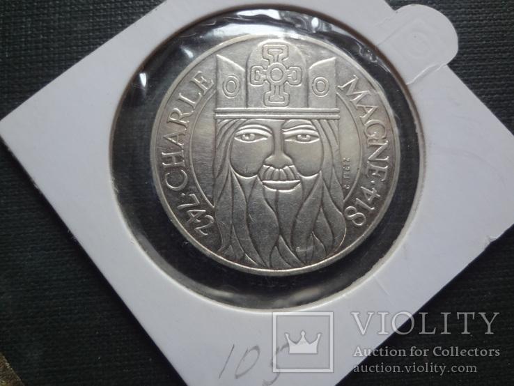 100  франков 1990  Франция серебро     холдер 105~, фото №2