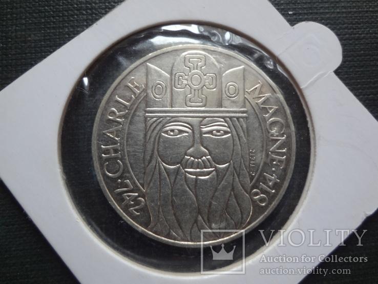100  франков 1990  Франция серебро     холдер 105~, фото №3