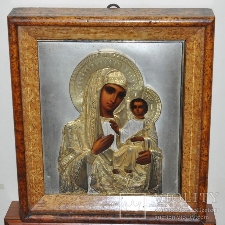 Икона Божией Матери,оклад серебро 84 пр.