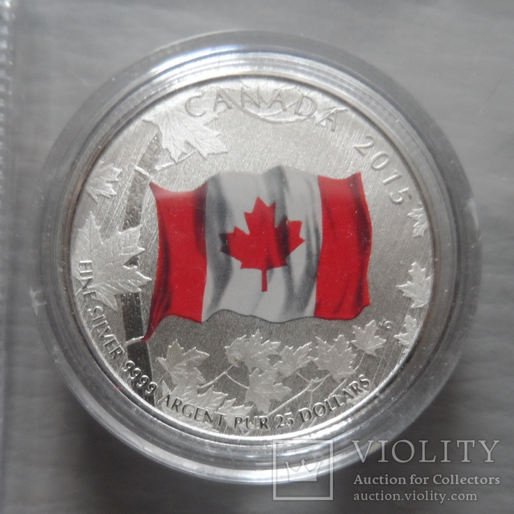 20 долларов 2015   Канада  серебро  (Н.25.7)~, фото №2