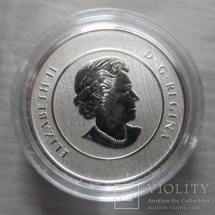 20 долларов 2015   Канада  серебро  (Н.25.7)~, фото №4