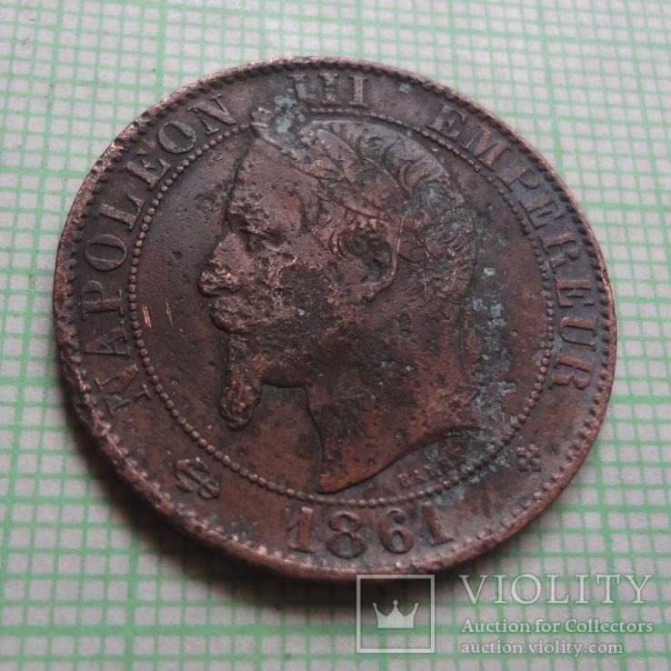 5 сантим 1861  Франция     (Р.2.6)~, фото №4
