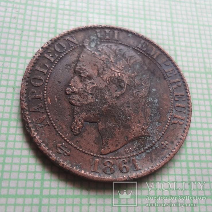 5 сантим 1861  Франция     (Р.2.6)~, фото №5