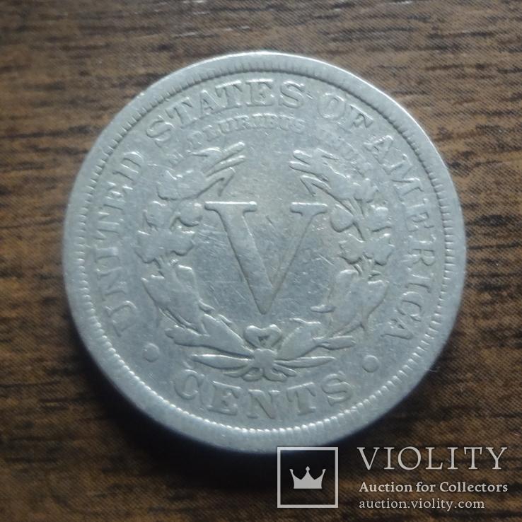 5 центов 1907 США   (лот 4.4)~, фото №2