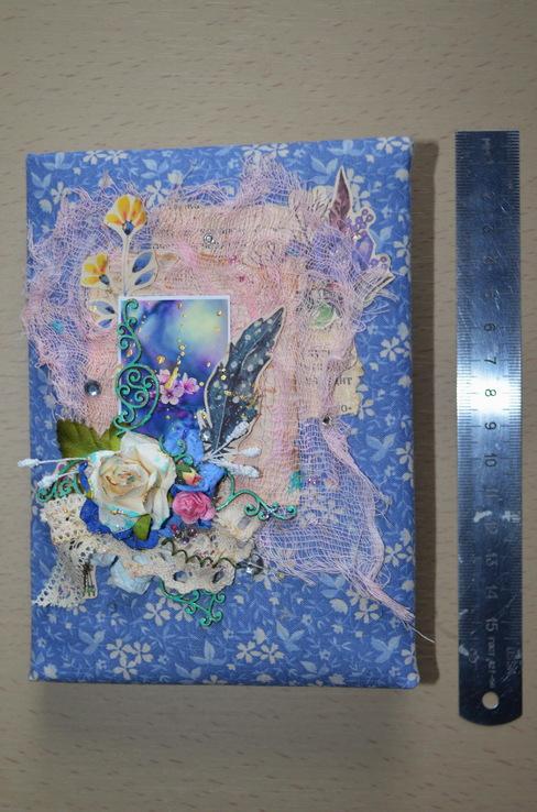 Блокнот ручной работы с нелинованными состаренными страницами -Цветочный- 100 листов, фото №4