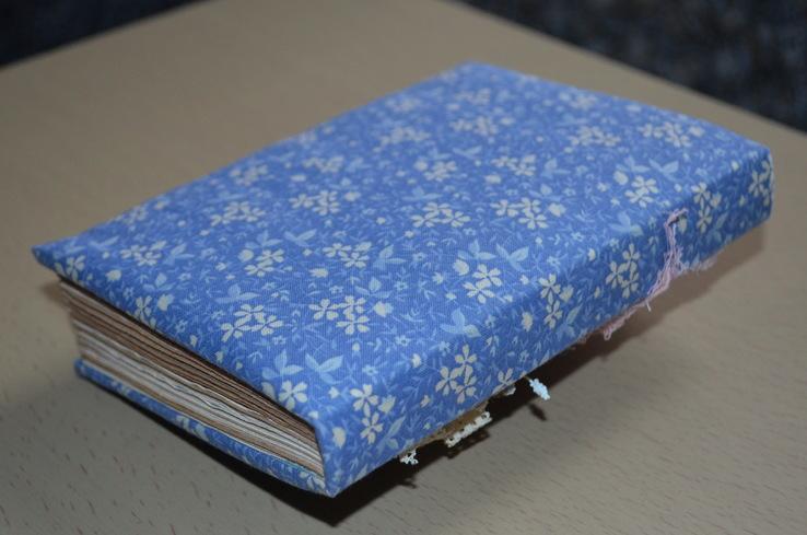 Блокнот ручной работы с нелинованными состаренными страницами -Цветочный- 100 листов, фото №7