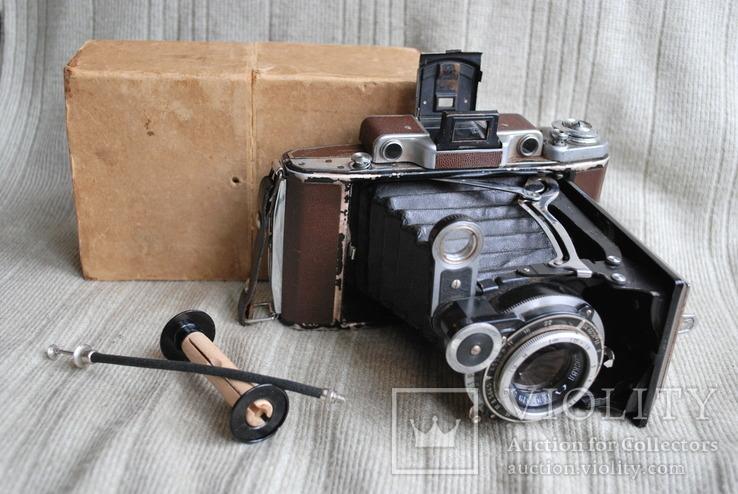 Фотоаппарат Москва-2, коричневая, 1948 год, упаковка.