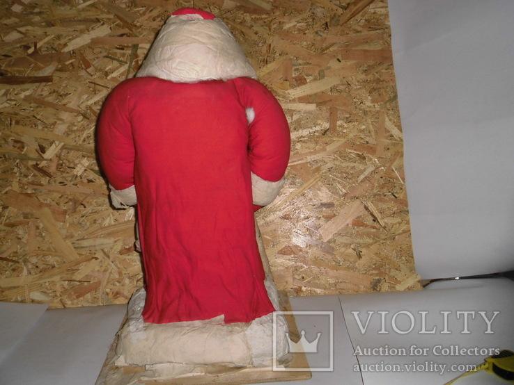 Дедушка мороз - возраст 48 лет, из СССР, 72 см.,прессопилки, на реставрацию, фото №5