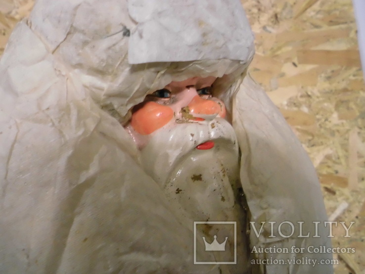 Дедушка мороз - возраст 48 лет, из СССР, 72 см.,прессопилки, на реставрацию, фото №10