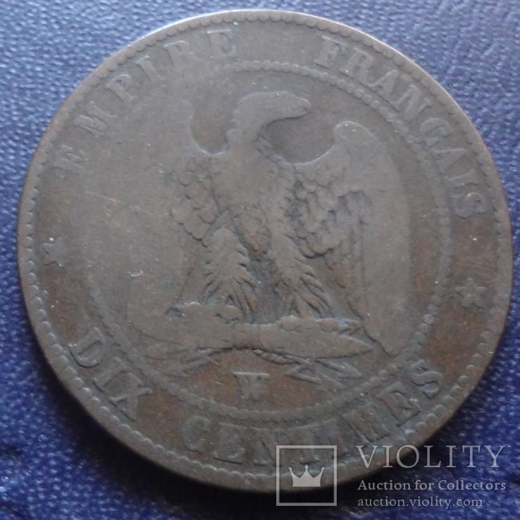 10 сантим 1855 Франция   (1.4.2)~, фото №2