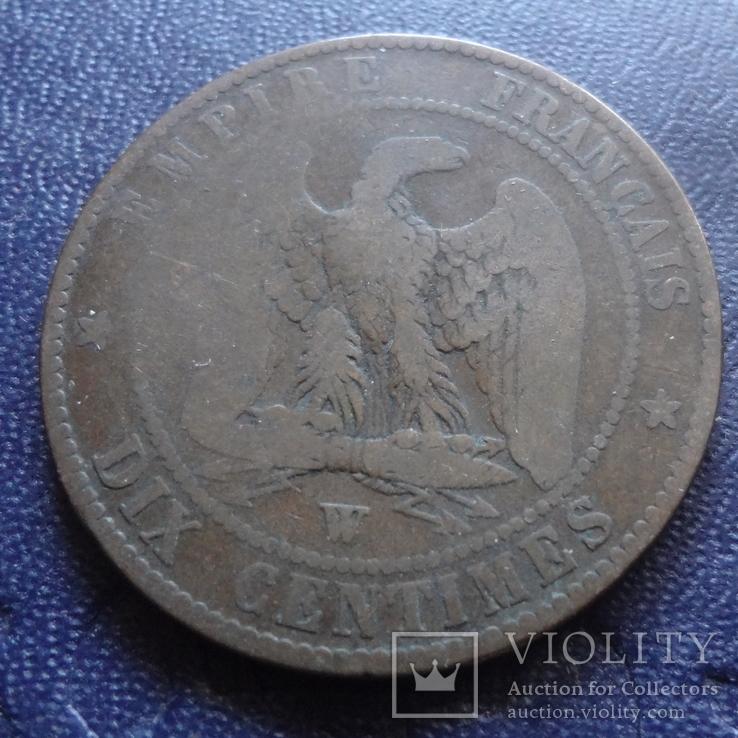 10 сантим 1855 Франция   (1.4.2)~, фото №3