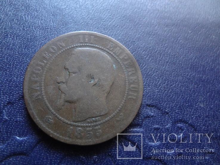 10 сантим 1855 Франция   (1.4.2)~, фото №5