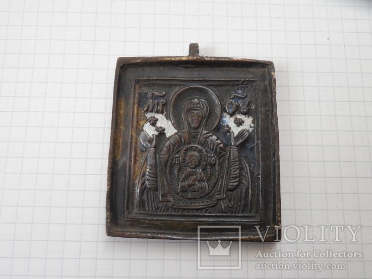 Иконка литая Знамение Пресвятой Богородицы, фото №2