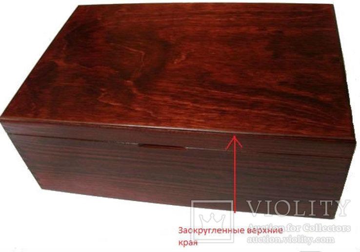 Деревянный элегантный бокс на 6 планшетов, фото №3