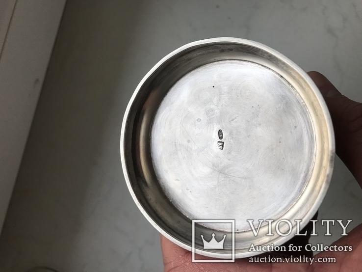 Подстаканник серебро  модерн 1918 год 200 грамм В А клеймо, фото №6