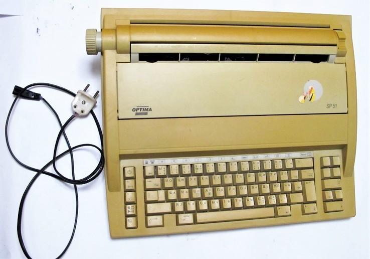 Машинка пишущая печатная Optima SP 51 Germany №2