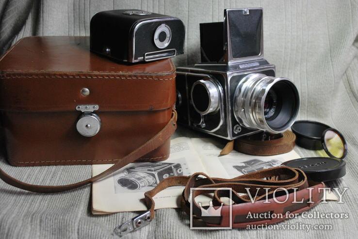 Фотоаппарат САЛЮТ, с авто спуском, № 00 519, редкий выпуск Индустар-29, первый.