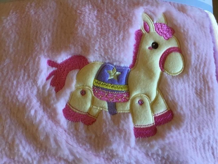 Детское одеяло плед розовое, новое, фото №3