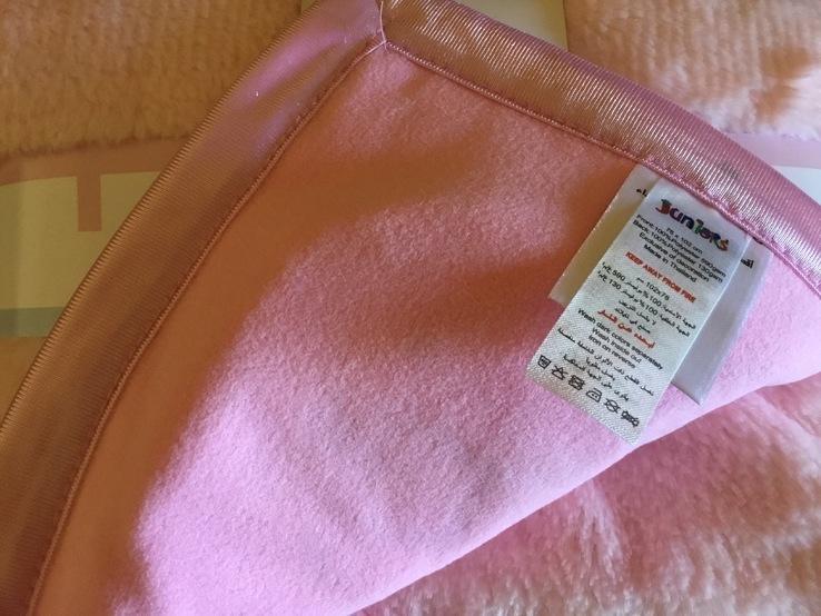 Детское одеяло плед розовое, новое, фото №8