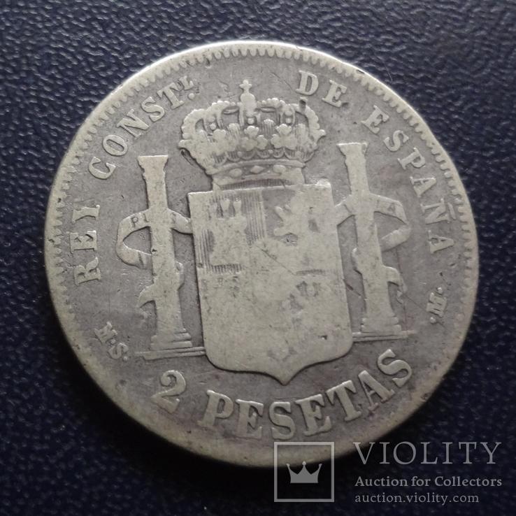 2 песеты 1882 Испания  серебро   (е.5.3)~