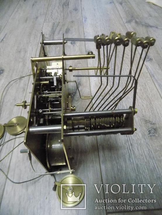 Механізм Hermle четвертного підлогового годинника, фото №6
