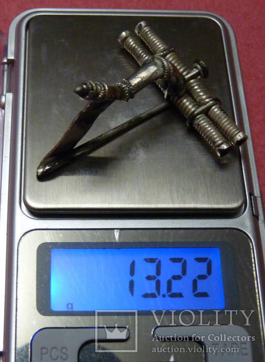 Серебряная фибула № д004