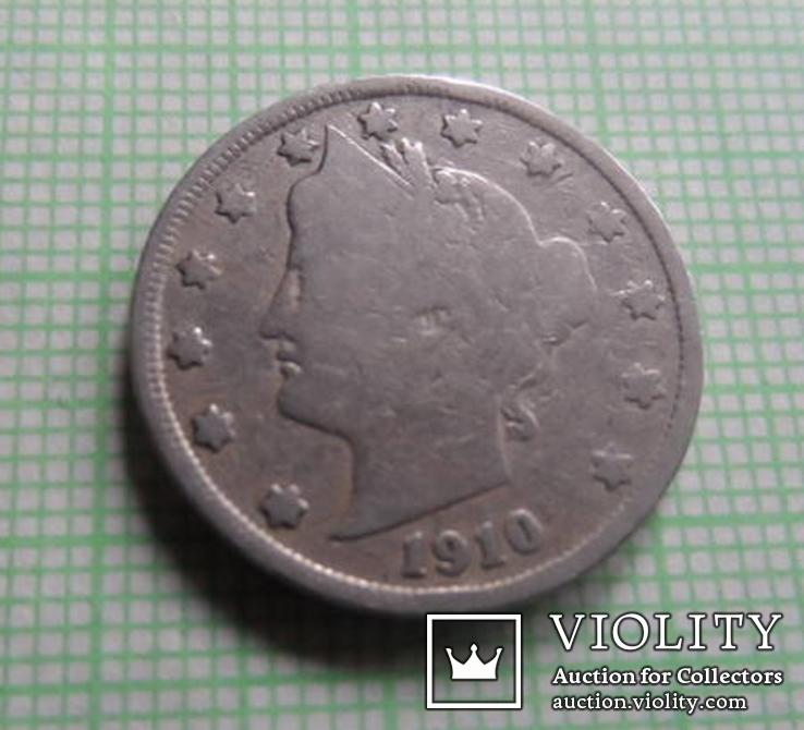5 центов сша 1910 (р.1.19)~, фото №3