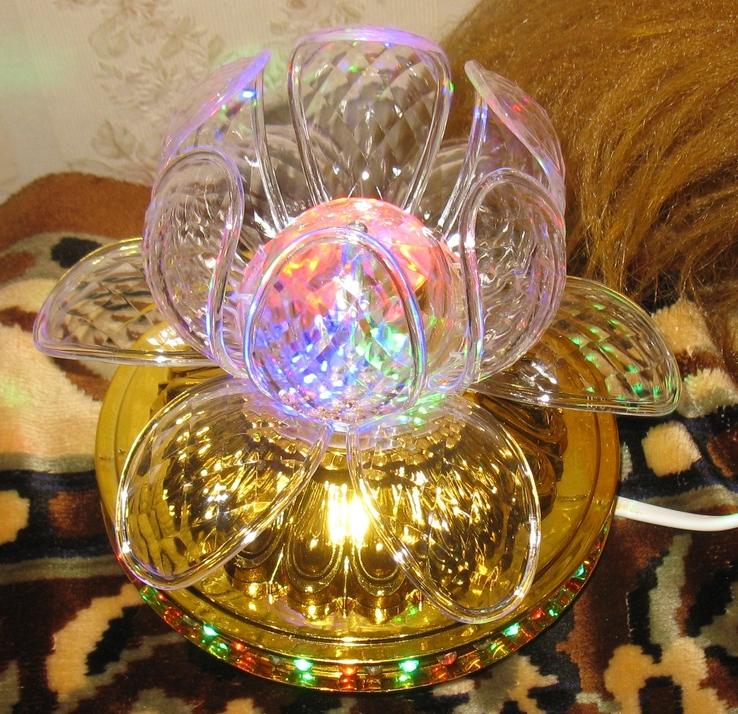 Диско светильник лилия , Диско шар ночник ., фото №5