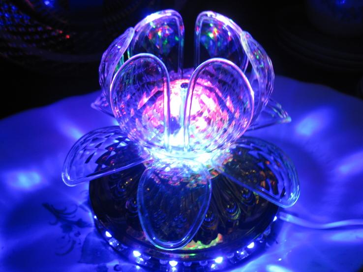 Диско светильник лилия , Диско шар ночник ., фото №7