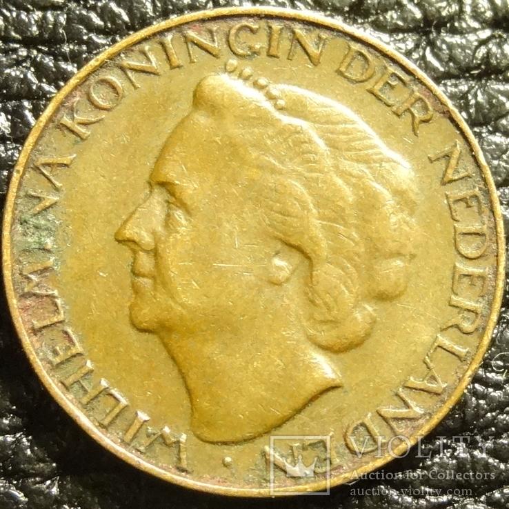 1 цент Нідерланди 1948, фото №2