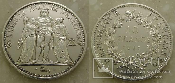 Франция 10 франков 1965 г.