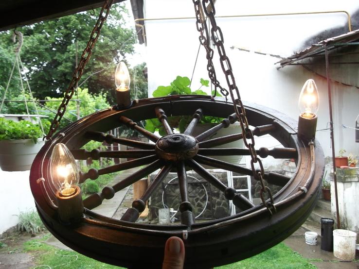 Лампа колесо, фото №3