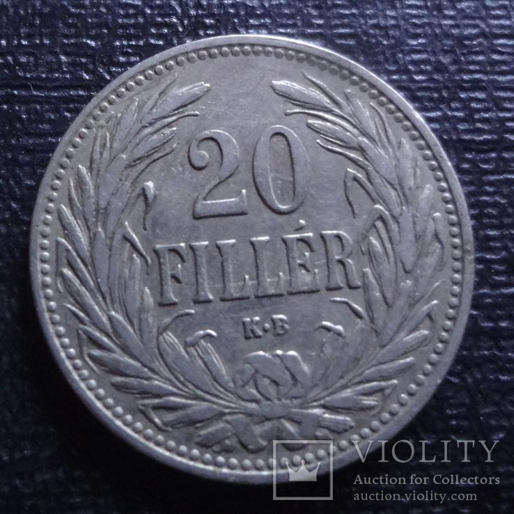 20 филлеров 1908    (3.2.25)~, фото №2